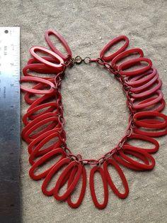 Art Deco Bakelite Oval Loop Necklace