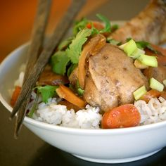 Slow Cooker Soy Ginger Chicken- one dish no precooking anything - Prep Time 15 minutes Cook Time 7 hours