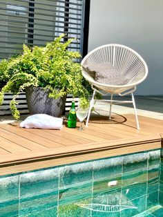 Modern relaxing pool and deck area Outdoor Furniture, Minimalist Design, Relaxing Pool, Outdoor Decor, 3 Bedroom House, House, Home Decor, Studio, Outdoor Furniture Sets