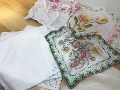 A personal favorite from my Etsy shop https://www.etsy.com/listing/513070580/handkerchiefs-vintage-lot