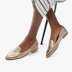 Thenxin Womens Flats Classic Pointed Toe Color Splice Elegant Slip-on Office Lady Business Shoes