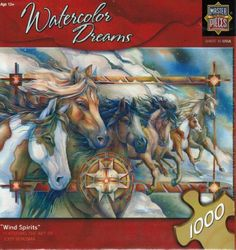 "Watercolor Dreams ""Wind Spirits"" by Jody Bergsma 1000 piece Jigsaw Puzzle"