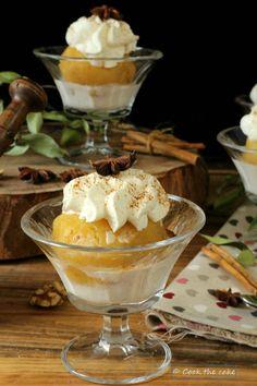 Tufahije o postre de manzanas. {Receta bosnia} - Separate Tutorial and Ideas I Love Food, I Foods, Healthy Life, Ice Cream, Pudding, Apple, Cooking, Sweet, Desserts