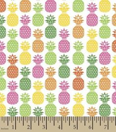 Novelty Cotton Fabric-Pineapple Party