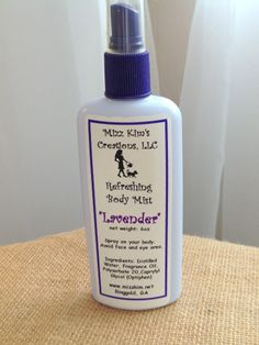 Refreshing Body Mist by Mizz Kim's Creations www.mizzkim.net
