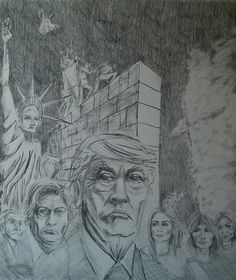Sketch for my next painting on fascism in the US.