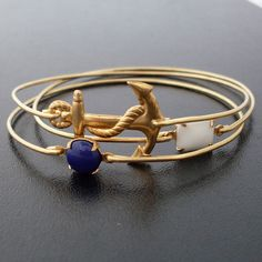 Nautical Sailing Bracelet Set, Sailing Jewelry, Sailboat Jewelry Set, Ocean Bracelets, Sailor Bracelet, Color Block Jewelry, Sailor Jewelry. $38.00, via Etsy.