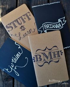 Cute personalized journals