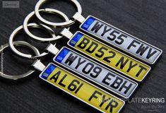 Ford Escort Keyring Keyfob UK Number Plate Classic Car Keytag