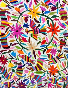 Mexican Suzani- would make a beautiful and colorful tablecloth!