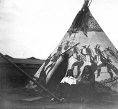 Indian teepee (Sioux) :: 1892 Native American Pictures, Native American Beauty, Native American Indians, American Life, Teepee Camping, Indian Teepee, Walk In The Spirit, Native Indian, Indian Art
