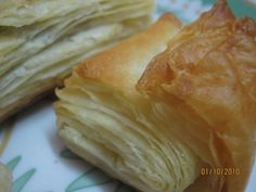 Home Made Puff Pastry – Baking Basics – Gayathri's Cook Spot Home Made Puff Pastry, Easy Puff Pastry Recipe, Pastry Dough Recipe, Puff Pastry Dough, Puff Pastry Sheets, Flaky Pastry, Homemade Pastries, Homemade Cakes, Pastries Recipes