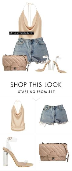 """#901"" by vanessayev ❤ liked on Polyvore featuring Levi's and Chanel"