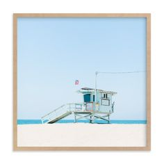 """""""Venice Beach"""" - Art Print by Jessica Cardelucci Nugent in beautiful frame options and a variety of sizes."""
