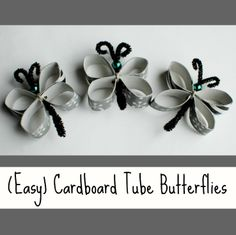 We raided our craft pantry for these quick & easy butterflies!