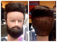 """""""Kyle"""" the mannequin with a Faux Flat Top. #mannequinlook #cosmetology #beauty #beardgrooming #malehairstyle #malehaircut #hairstyles #haircuts #flattop by reenukabeauty"""
