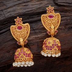 Shop Antique Earrings Online For Women-Kushal's Fashion Jewellery Indian Jewellery Design, Indian Jewelry, Jewelry Design, Antique Earrings, Antique Jewelry, Bridal Jewelry, Gold Jewelry, Jumka Earrings, Gold Earrings Designs