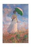 Claude Monet - Woman with a Parasol Turned to the Right Reprodukce na plátně