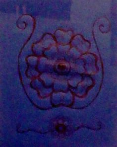 my own design on blue paper