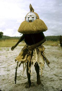 Africa | Initiation rituals among Yaka people. Near Kasongo Lunda, Democratic Republic of Congo. 1951 | ©Eliot Elisofon