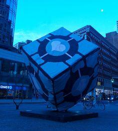 Astor Place Cube in NYC = IRL Weighted Companion Cube