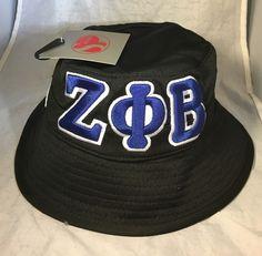 47ab7397ec374 Zeta Phi Beta Sorority Founding Year Floppy Mesh Bucket Hat-Black