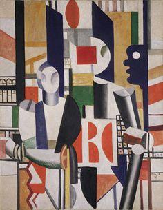Fernand Legeres - Men in the City (Mannen in de stad) (1919) | Guggenheim (New York)  Kubisme/futurisme
