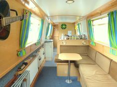 Image result for inside a narrowboat pictures