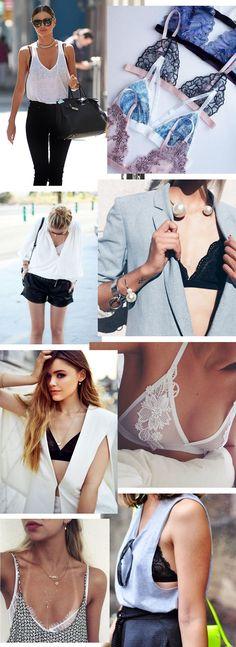 Truque de estilo: lingerie à mostra #bralette