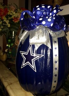 Dallas Cowboys Decorative Craft Pumpkin by SouthernBelleDazzle