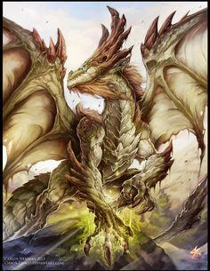 Moss Dragon Elder by Chaos-Draco