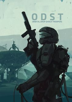 """amirzand: """" Orbital Drop Shock Trooper/ this is my third fan art from Halo ODST so far … this is something i do every two year so you can find the previous artworks in my early posts, Hope you like it guys ! """""""