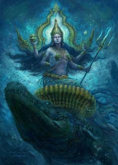 Chewutti, Avatar of The Water by Darkberry-Fruity on deviantART #hindu #art