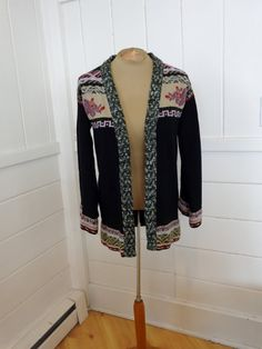Retro 60's Rose Cardigan Long DonnKenny Women's Size by BosVintage