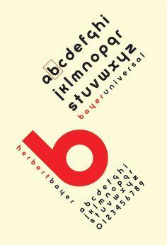 Bauhaus Movement | Universal Bayer (1925) Artist: Herbert Bayer
