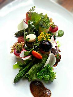 Garden salad e salade verte.