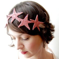 This would be so cute for Izzy's Mermaid Party. Giant Dwarf // Starlette Crown // Rose by giantdwarf on @Etsy, $78.00