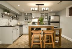 Income Property on HGTV, your source for Income Property videos, full episodes, photos and updates. Watch Income Property on HGTV. Wood Kitchen Island, Diy Kitchen, Income Property, Rental Property, Basement Apartment, Apartment Ideas, Basement Renovations, Basement Ideas, Houses