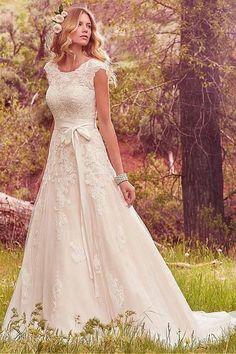 2018 Wedding Dresses #2018WeddingDresses, Wedding Dresses A-Line #WeddingDressesA-Line, Lace Wedding Dresses #LaceWeddingDresses