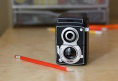 Camera pencil sharpener by Kikkerland