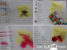 Kinder 'Sign-In' Ideas to Support Handwriting Development