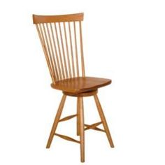 Amish Contemporary Fan-Back Windsor Swivel Dining Stool (Shown in Cherry). Caringly hand-built & hand-finished by Mennonite & Amish craftsmen. Available in premium Oak, Maple, & Cherry hardwoods. Full range of durable finishes. Dining Stool online at http://www.mennonite-furniture-studios.com/Amish-Contemporary-Fan-Back-Windsor-Swivel-Dining-Stool/ matching Counter Stool at http://www.mennonite-furniture-studios.com/Amish-Contemporary-Fan-Back-Windsor-Swivel-Counter-Stool/
