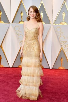 Emma Stone in Givenchy Haute Couture. #Oscars #redcarpet