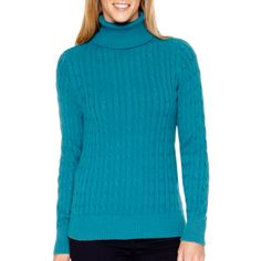They're back! St. John's Bay® Long-Sleeve Essential Turtleneck Sweater  found at @JCPenney