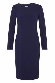 Quellio Wave Neckline Dress by Rose & Willard  #Silkarmour #Corporatefashion #Women #Business #fashion #Sophisticated #luxury #workoutfit