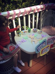 Wand station for girls carnival birthday party