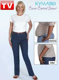 Curve Control Jeans by Kymaro, look slimmer instantly