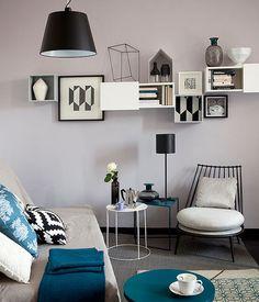 Il grigio perla per il soggiorno