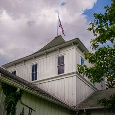 Geauga County Fair Grounds ... Oldest Fair in the state of Ohio...this is one of two exhibition barns, originally built in the 1850's, but then rebuilt in the 1870's after a fire.  Burton, Ohio