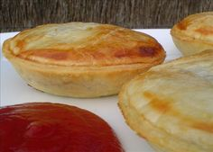 Mini Meat Pies from Food.com:   								A fun, all-Aussie appetizer from The Essential Finger Food Cookbook; little meat pies - traditional or uncovered - made from ready rolled shortcrust pastry baked in patty tins.